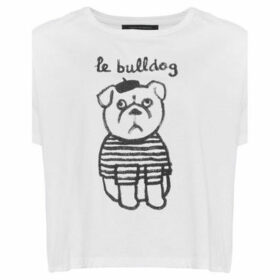 French Connection  Short sleeve printed t-shirt  women's T shirt in White