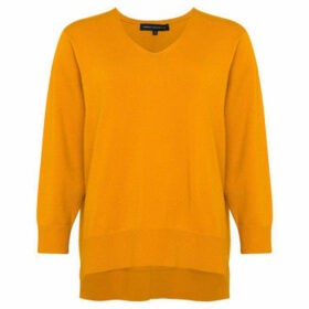 French Connection  Plain round neck jumper with long sleeves  women's Sweater in Yellow