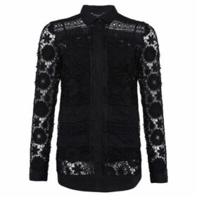 French Connection  Long sleeve lace shirt  women's Shirt in Black