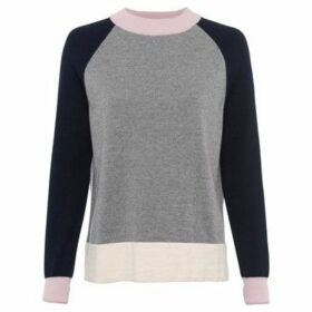 French Connection  Contrast design sweater  women's Sweater in Grey