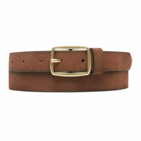 Timberland Suede Leather Belt For Women In Brown Brown, Size L