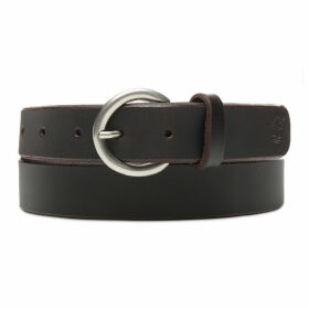 Timberland Leather Belt For Women In Dark Brown Dark Brown, Size XL