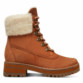 Timberland Courmayeur Valley Shearling Boot For Women In Rust Rust, Size 7.5