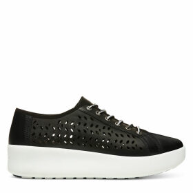 Timberland Berlin Park Perforated Oxford For Women In Black Black, Size 7.5