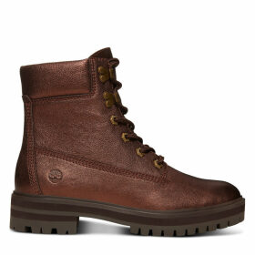 Timberland London Square 6 Inch Boot For Women In Copper Saddle Nubuck, Size 7.5