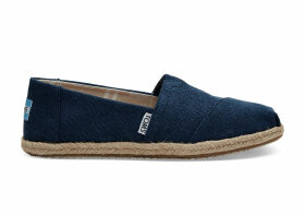 TOMS Navy Washed Canvas Women's Classics Slip-On Shoes - Size UK7.5