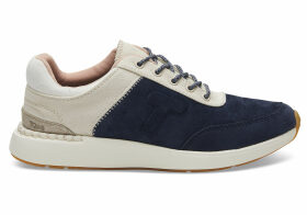 TOMS Navy Suede And Canvas Women's Arroyo Sneakers Shoes - Size UK3