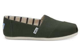 TOMS Pine Heritage Canvas Women's Classics Venice Collection Slip-On Shoes - Size UK7.5