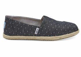 TOMS Black Dot Chambray Women's Espadrilles Shoes - Size UK7