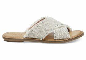 TOMS Tan Metallic Jute Women's Viv Sandals - Size UK8