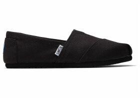 TOMS Black On Black Women's Canvas Classics Slip-On Shoes - Size UK5
