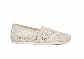TOMS Tan Moroccan Crochet Women's Classics Slip-On Shoes - Size UK7