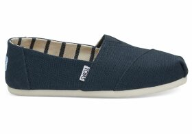 TOMS Majolica Blue Heritage Canvas Women's Classics Venice Collection Slip-On Shoes - Size UK9