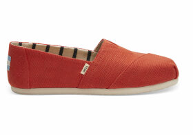 TOMS Cherry Tomato Heritage Canvas Women's Classics Venice Collection Slip-On Shoes - Size UK4.5