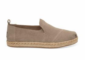 TOMS Desert Brown Suede Women's Deconstructed Alpargatas Shoes - Size UK7.5