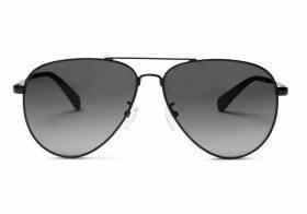 TOMS Maverick 301 Matte Black Dark Grey Lens Sunglasses with Dark Grey Lens