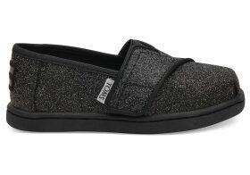 Black Iridescent Glimmer Tiny TOMS Classics Slip-On Shoes - Size UK7
