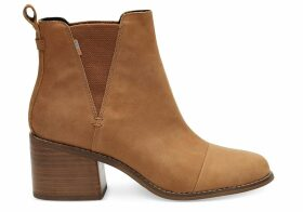 TOMS Tan Leather Women's Esme Boots - Size UK4.5