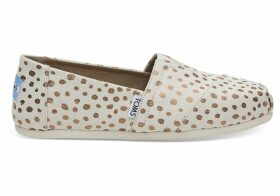 TOMS Rose Gold Dots Women's Classics Slip-On Shoes - Size UK4