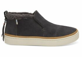 TOMS Grey Suede Women's Paxton Slip-Ons Shoes - Size UK8