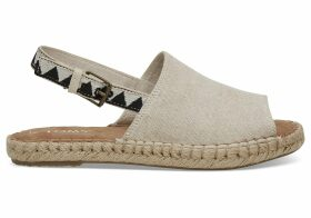 TOMS Beige Oxford Women's Clara Espadrilles Shoes - Size UK7.5