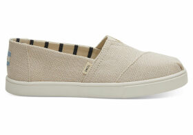 TOMS Tan Heritage Canvas Women's Cupsole Alpargatas Venice Collection Shoes - Size UK8