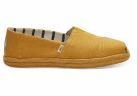TOMS Gold Fusion Canvas Women's Espadrilles Shoes - Size UK9