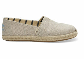 TOMS Pearlized Metallic Canvas Women's Espadrilles Shoes - Size UK7