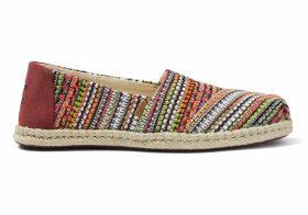 TOMS Cherry Tomato Woven Women's Espadrilles Shoes - Size UK3.5