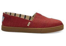 TOMS Brick Red Heritage Canvas Women's Cupsole Alpargatas Venice Collection Shoes - Size UK6.5