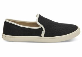 TOMS Black Women's Clemente Slip-Ons Topanga Collection Shoes - Size UK3