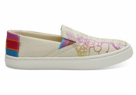 Sesame Street X TOMS Foil Printed Canvas Youth Luca Slip-Ons Shoes - Size UK4