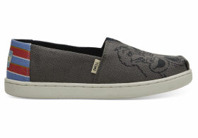 Sesame Street X TOMS Vintage Printed Canvas Youth Classics Slip-On Shoes - Size UK13