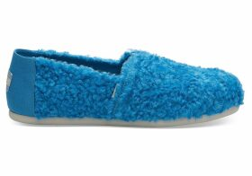 Sesame Street X TOMS Cookie Monster Faux Shearling Women's Classics Slip-On Shoes - Size UK5