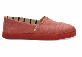 TOMS Persimmon Heritage Canvas Women's Cupsole Alpargatas Shoes - Size UK5.5