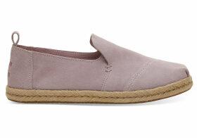 TOMS Burnished Lilac Suede Women's Deconstruced Alpargatas Shoes - Size UK8