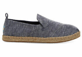TOMS Navy Chambray Women's Deconstructed Alpargatas Shoes - Size UK7.5