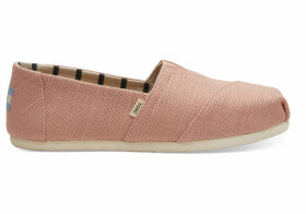 TOMS Coral Pink Heritage Canvas Women's Classics Venice Collection Slip-On Shoes - Size UK8