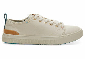 TOMS Beige Canvas Trvl Lite Low Women's Sneakers Shoes - Size UK7.5