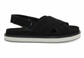 TOMS Black Suede Women's Marisa Sandals - Size UK6