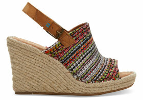 TOMS Cherry Tomato Woven Women's Monica Wedges - Size UK8