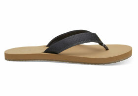 TOMS Forged Iron Matte Iridescent Women's Gabi Flip-Flops - Size UK6