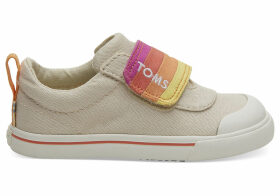 Tan Horizon Canvas Tiny TOMS Doheny Sneakers Shoes - Size UK3