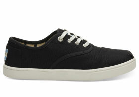 TOMS Black Heritage Canvas Women's Cupsole Cordones Sneakers Venice Collection Shoes - Size UK3