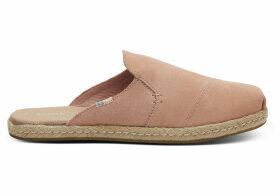 TOMS Coral Pink Suede Women's Nova Slip-On Espadrilles Shoes - Size UK8