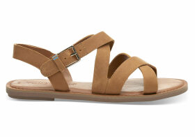 TOMS Tan Leather Women's Sicily Sandals - Size UK4.5