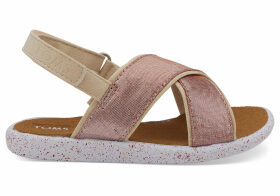 Persimmon Metallic Shantung Tiny TOMS Viv Sandals - Size UK10