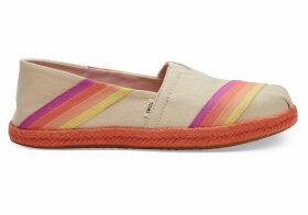 TOMS Multi-Color Sunset Canvas Women's Espadrilles Shoes - Size UK5.5