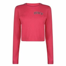Juicy Crop Long Sleeve T Shirt - Passion Pink