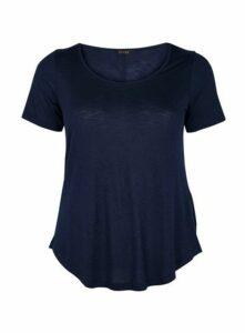 Navy Blue Scoop Neck T-Shirt, Navy